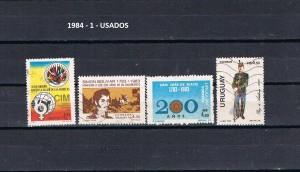 URUGUAY 1984-1 USADOS
