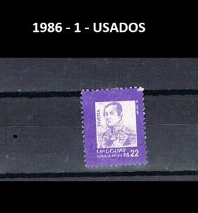 URUGUAY 1986-1 USADOS