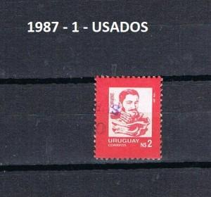 URUGUAY 1987-1 USADOS