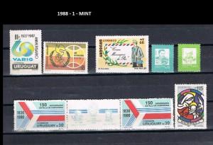 URUGUAY 1988-1 MINT