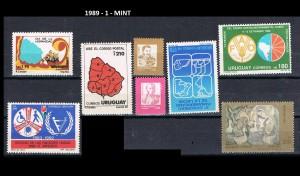 URUGUAY 1989-1 MINT