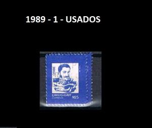 URUGUAY 1989-1 USADOS