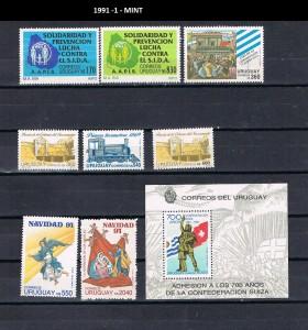 URUGUAY 1991-1 MINT