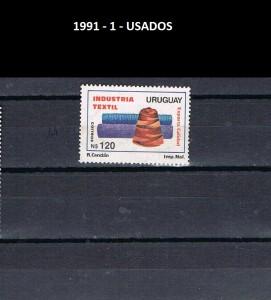 URUGUAY 1991-1 USADOS