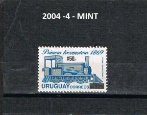 URUGUAY 2004-4-MINT.