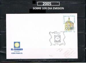 URUGUAY 2005-1-SOBRE 1ER DIA