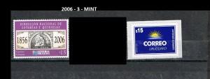 URUGUAY 2006-3-MINT