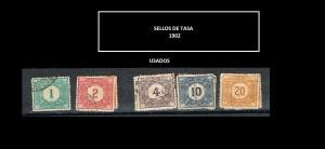 URUGUAY  SELLOS DE TASA - 1902