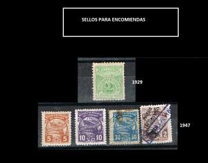 URUGUAY  SELLOS PARA ENCOMIENDAS - 1929-1947