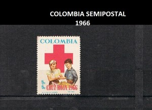 V COLOMBIA 1966 38 SEMIPOSTAL