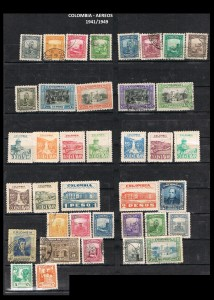 W COLOMBIA   1941-1949. 40 AEREOS