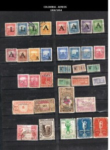 W COLOMBIA   1950-1954. 41 AEREOS