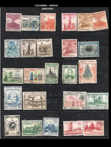 W COLOMBIA   1954-1955. 42 AEREOS