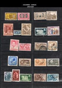 W COLOMBIA   1955-1957. 43 AEREOS