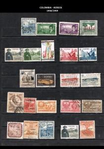 W COLOMBIA   1958-1959. 44 AEREOS