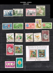W COLOMBIA   1959-1960. 45 AEREOS.