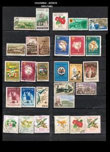 W COLOMBIA   1961-1962. 47 AEREOS
