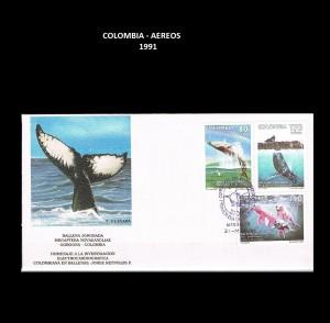 W COLOMBIA 1991  63 AEREOS