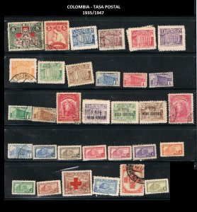 X COLOMBIA TASA POSTAL 1935-1947  69