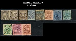 X COLOMBIA TELEGRAFO 1881-1906  72